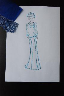 Ontwerp voor Koningin Beatrix (foto: Ecocouture)
