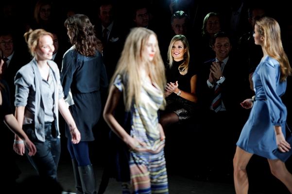 Prinses Máxima bij de finale van The Green Fashion Competition 2012