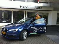proefrit Orangegas met Audi3 g-tron