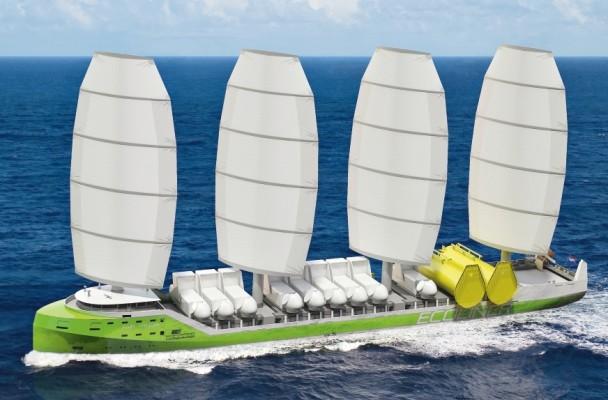 De Ecoliner, de wind hybride coaster voor emissiearm zeetransport